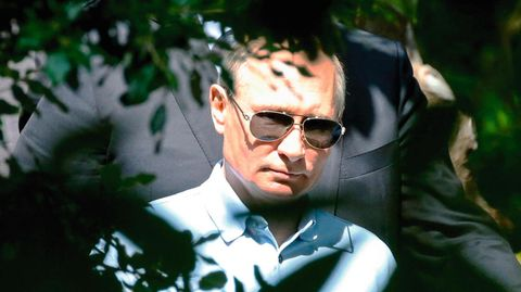 Wladimir Putin mit Sonnenbrille