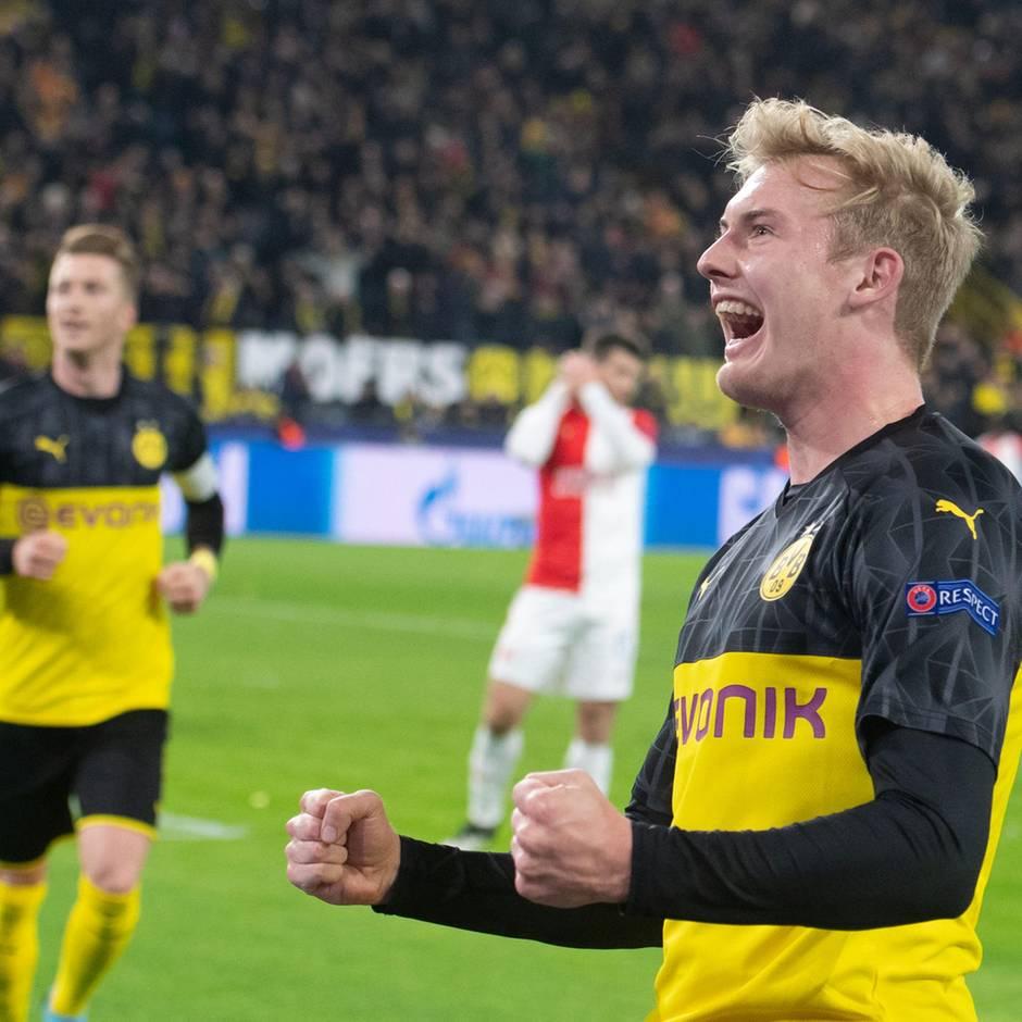 Champions League: Spannung bis zum Schluss: Dortmund kämpft sich ins Achtelfinale