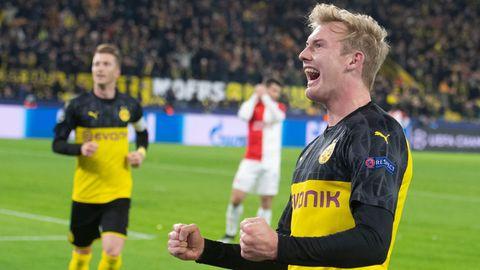 Dortmunds Julian Brandt jubelt über das 2:1