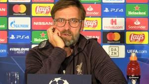 Jürgen Klopp auf der Pressekonferenz in Salzburg