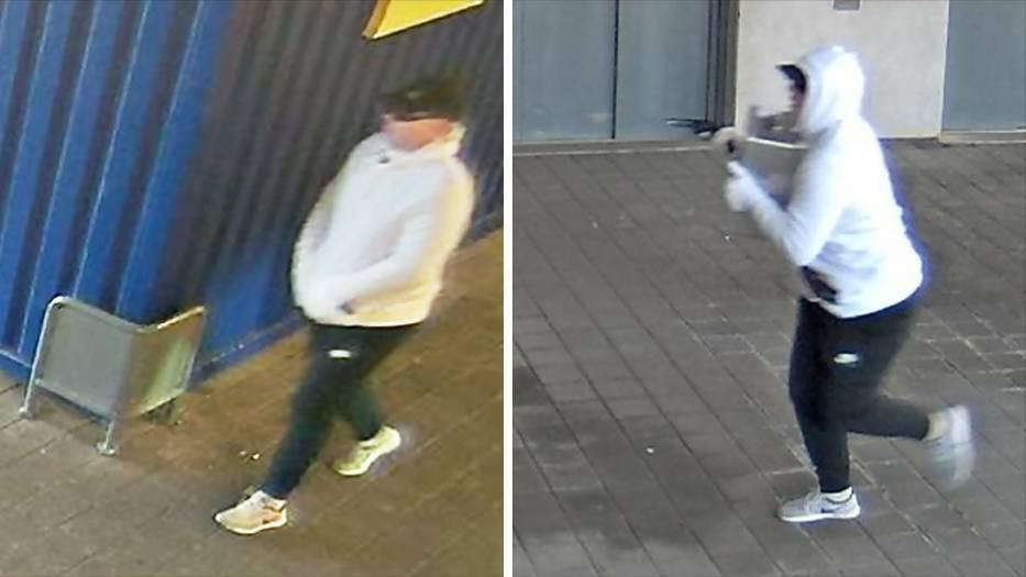 Fahndung: Polizei veröffentlicht Video: Dieser Mann hat den Ikea-Geldboten in Frankfurt überfallen