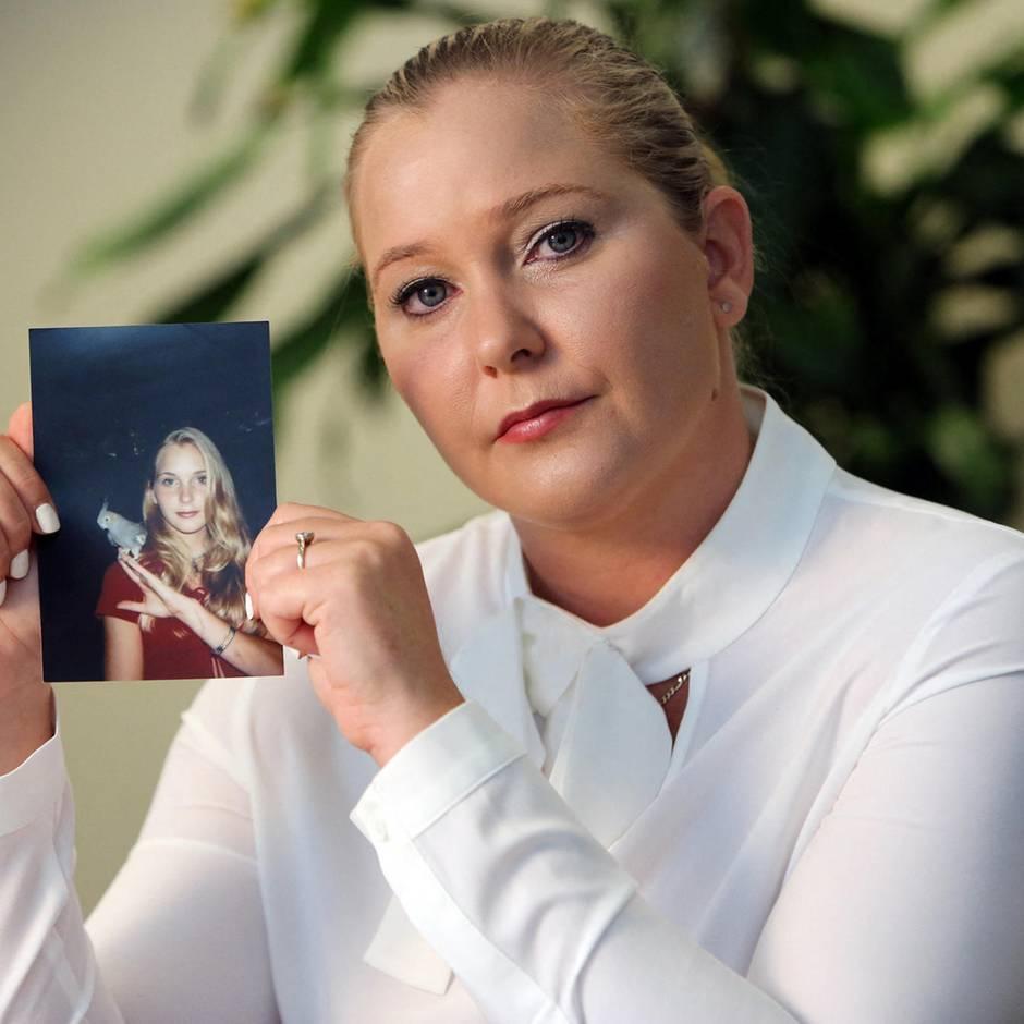 """Mutmaßliches Epstein-Opfer: """"Falls mir etwas passiert"""": Was Virginia Roberts Giuffre mit diesem Tweet sagen will"""