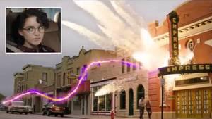 "Szene aus ""Ghostbusters"": Explodierendes Haus"