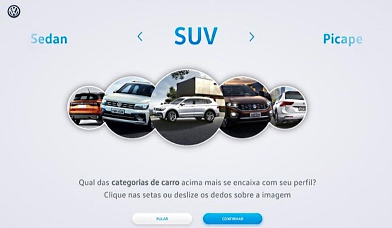 Das Menü beim Autokauf ist einfach: Entweder Art des Autos oder das Budget auswählen