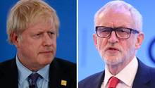 Boris Johnson (l.) und Jeremy Corbyn