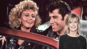 "John Travolta und Olivia Newton John in ""Grease"""
