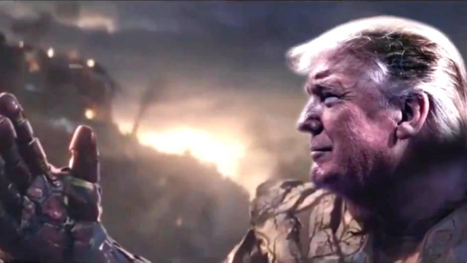 Trump als Thanos: Trump inszeniert sich als Marvel-Massenmörder und sorgt damit für Entsetzen