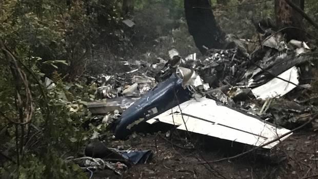 Das Flugzeug stürzte am Dienstag über der kanadischen Insel Gabriola Island ab