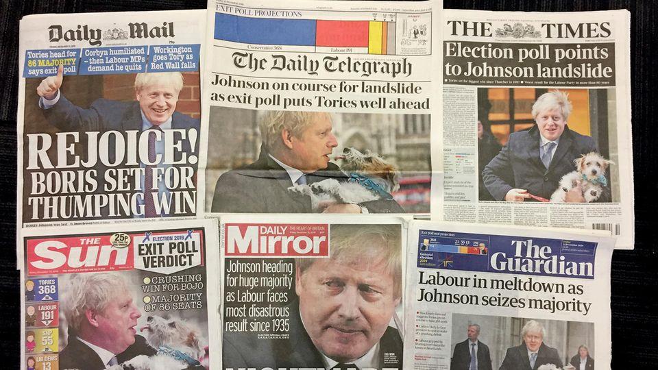 Titelseiten britischer Zeitungen