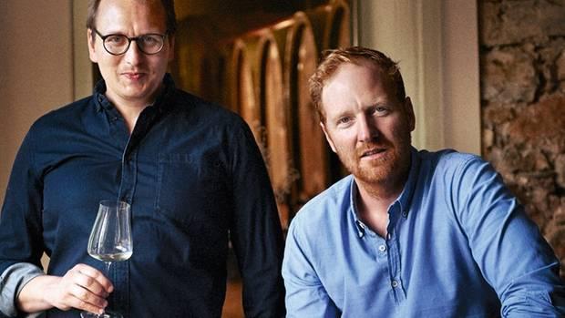 Die Brüder Philipp (l.) und Georg Rumpf vom Weingut Kruger-Rumpf in Münster-Sarmsheim