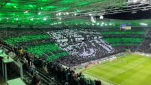 Fan-Choreo der Borussia Mönchengladbach