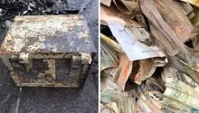 Dieser alteSafe sollte verschrottet werden, dann fand sich darin das Bargeld