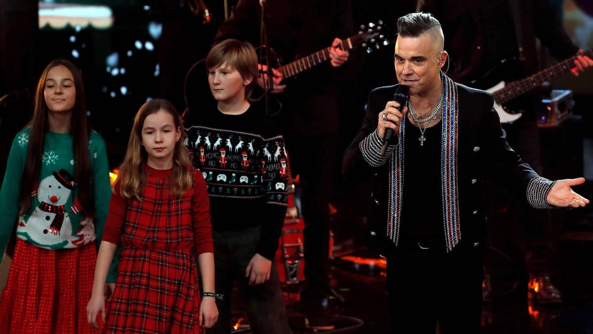Vom Film inspiriert: Weihnachten bei Robbie Williams: Mit diesem Trick sorgt der Popstar zuhause für brave Kinder