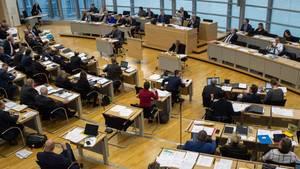 Der Plenarsaal des Landtages in Magdeburg