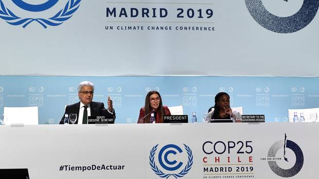 Abschlusssitzung beim Weltklimagipfel in Madrid