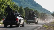 Mexikanische Polizisten bei einem Einsatz (Symbolfoto)