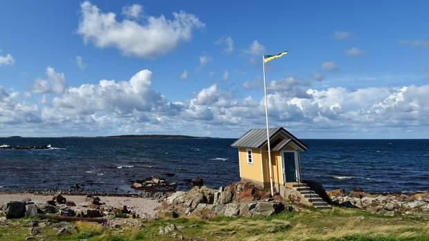 Altes Lotsenhaus in Torekov an der Küstein Südschweden