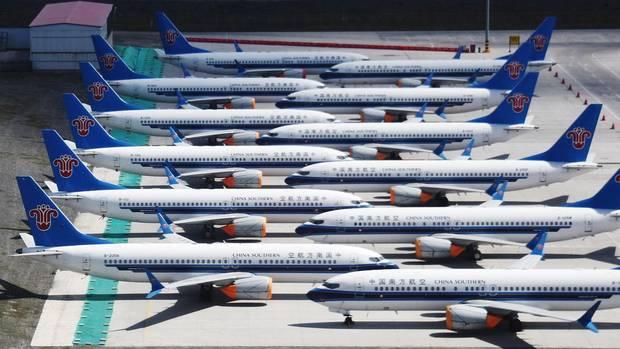 Auch China Southern gehört zu den Kunden der Boeing 737 Max, die seit März ungenutzt amUrumqiAirport stehen.