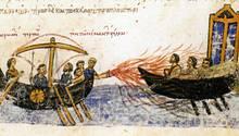Das Griechische Feuer besaß eine starke Wirkung, ließ sichaber nur miteinem komplizierten Prozedere einsetzen.