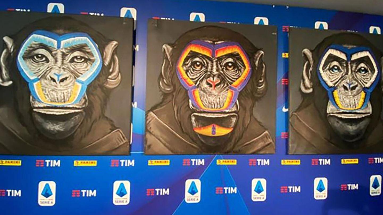 Der KünstlerSimone Fugazzotto arbeitet ausschließlich mit Affen-Motiven