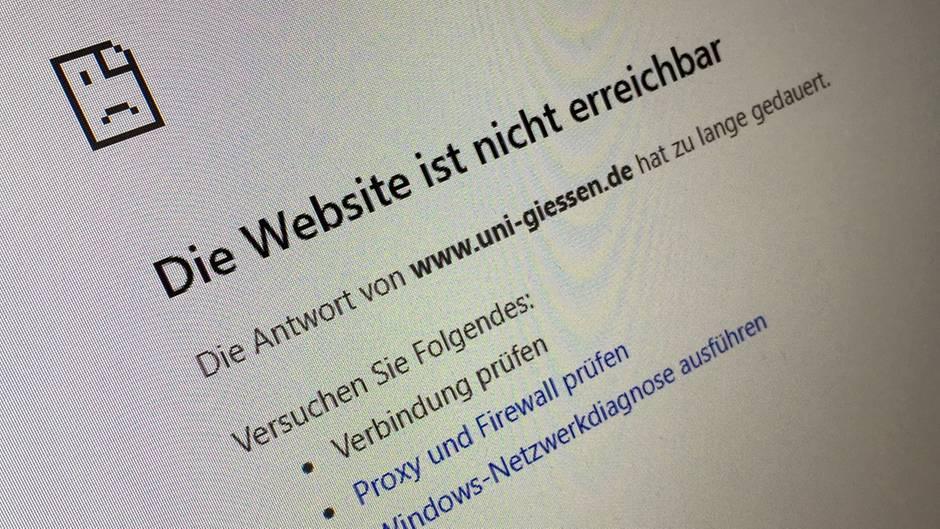 """""""Die Website ist nicht erreichbar"""" wird angezeigt"""