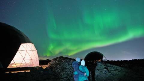 Aurora Basecamp aufs Island: Wo Sie die Magie des Nordlichts am besten erleben können