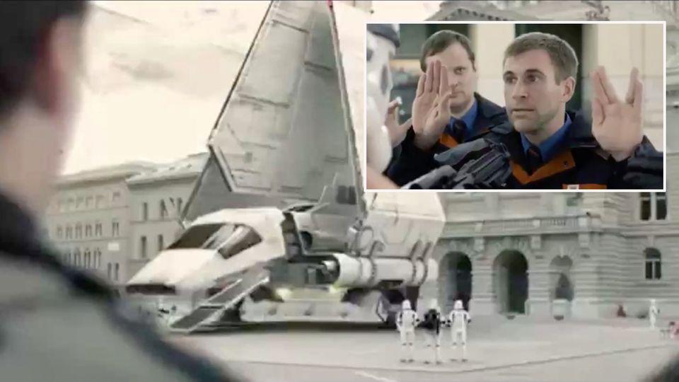 Star-Wars-Shuttle in Bern