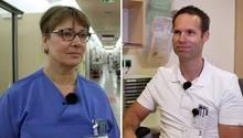 Assistenzarzt Johannes Schade und Krankenschwester Claudia Piper