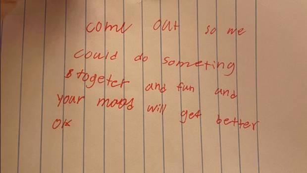 Eine handgeschriebene Nachricht