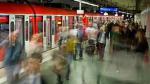 Die S-Bahn-Station des Frankfurter Hauptbahnhofs