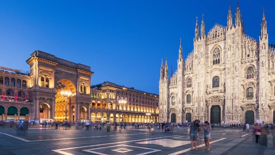 Der Piazza del Duomo in Mailand