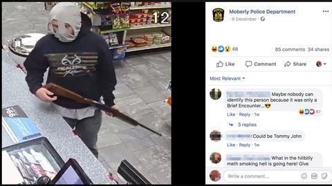Mit diesem Facebook-Bild sucht die Polizei in Missouri nach einem Räuber