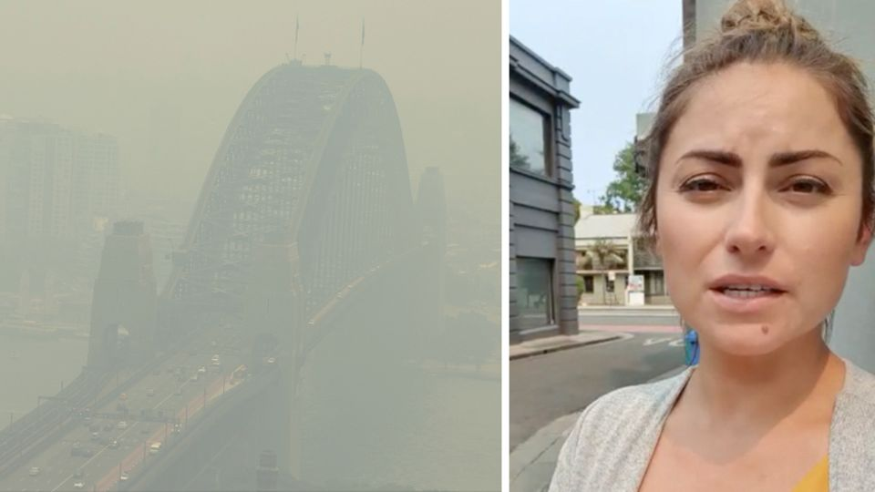 Sydney gefangen im Rauch: Deutsche berichtet