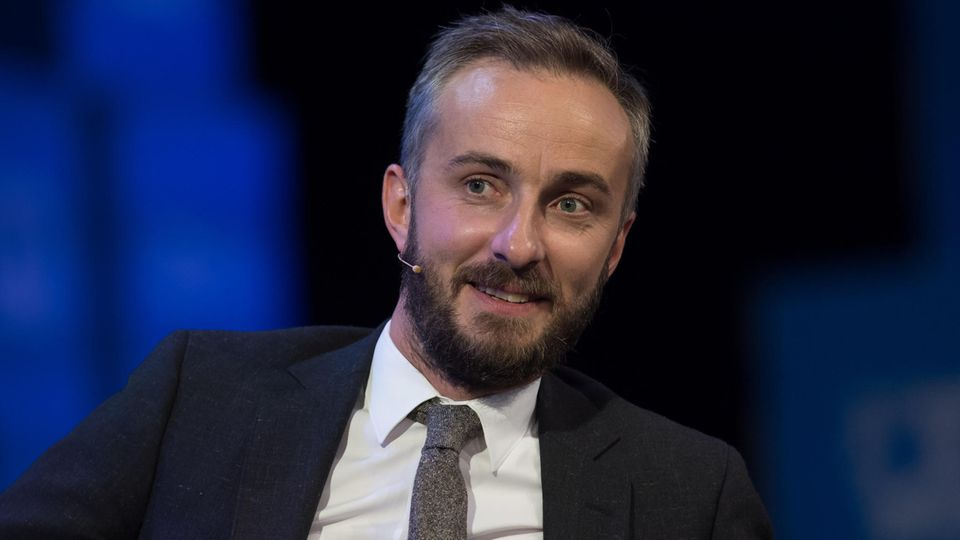 Moderator Jan Böhmermann während eines Fernsehauftrittes