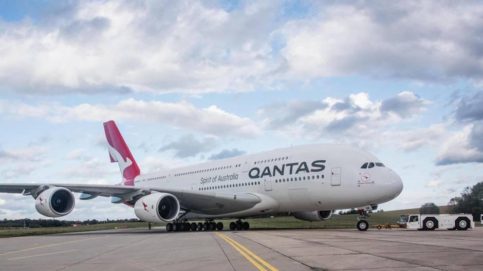 Airbus A380 auf dem Vorfeld