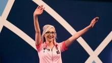 Fallon Sherock nach ihrem zweiten Sieg bei der Darts-WM 2020