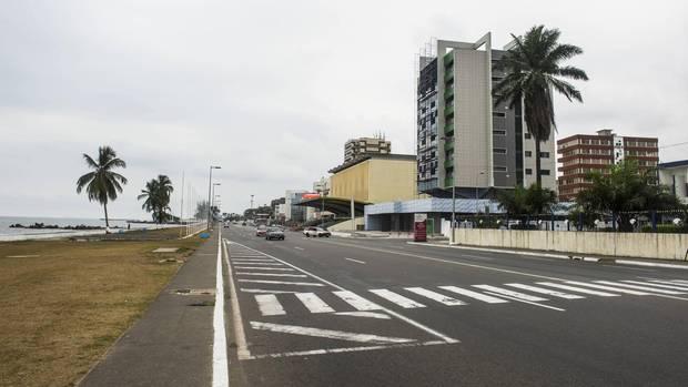Der Ocean Drive in Libreville, der Hauptstadt Gabuns. Im dortigen Hafen ereigneten sich die Schiffsüberfälle