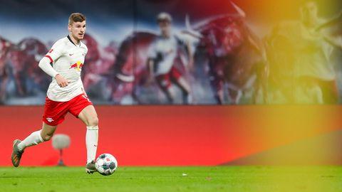 Bundesliga im stern-Check: Leipzigs Stürmer Timo Werner mit dem Ball am Fuß