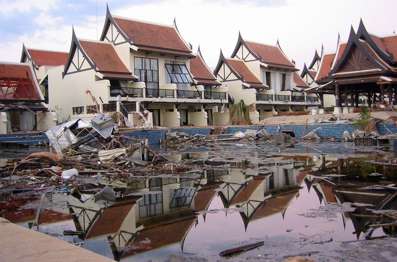 Zerstörtes Resort in Khao Lak