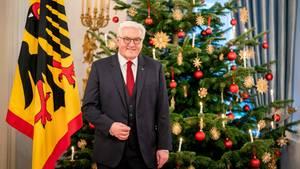 Bundespräsident Frank-Walter Steinmeier bei seiner alljährlichen Weihnachtsansprache