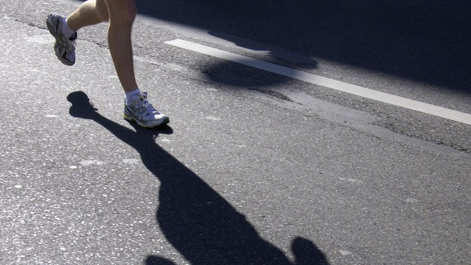 Füße eines Läufers