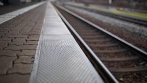 Bahnsteig in Nürnberg