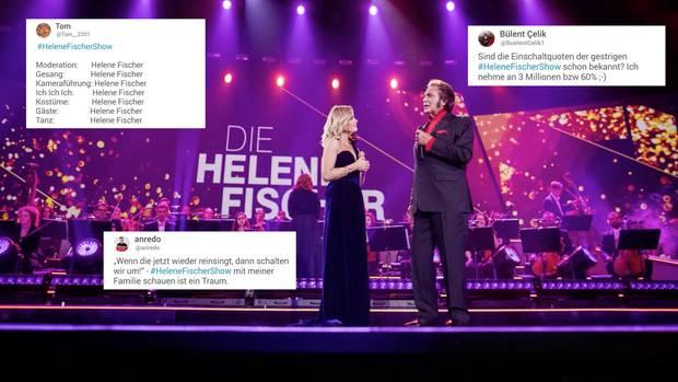 """Die Zuschauer diskutieren bei Twitter über die """"Helene Fischer Show"""""""