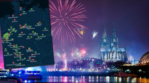 Silvesterfeuerwerk in Köln