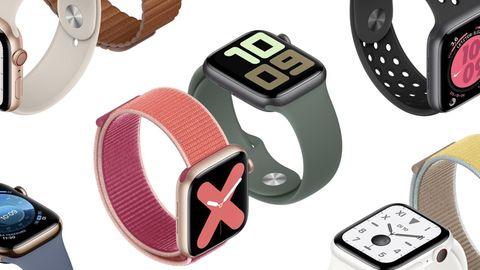 Auf jedem Bild zeigt die Apple Watch die gleiche Uhrzeit - 10.09 Uhr.
