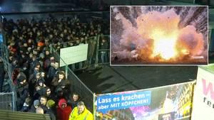 """Silvester-Werksverkauf in Eitorf: Hier stehen 1000 Böller-Fans  an: """"Ein bisschen Ballern"""""""