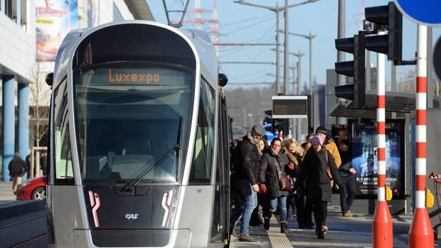 Eine Bahn in Luxemburg
