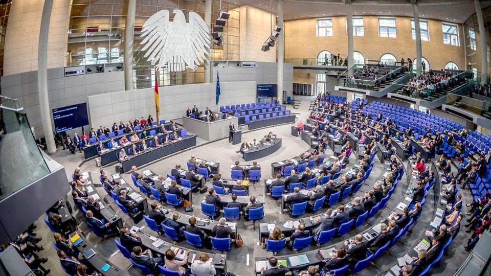 Plenum des Deutschen Bundestags