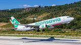 Boieng 737 von Transavia beim Start