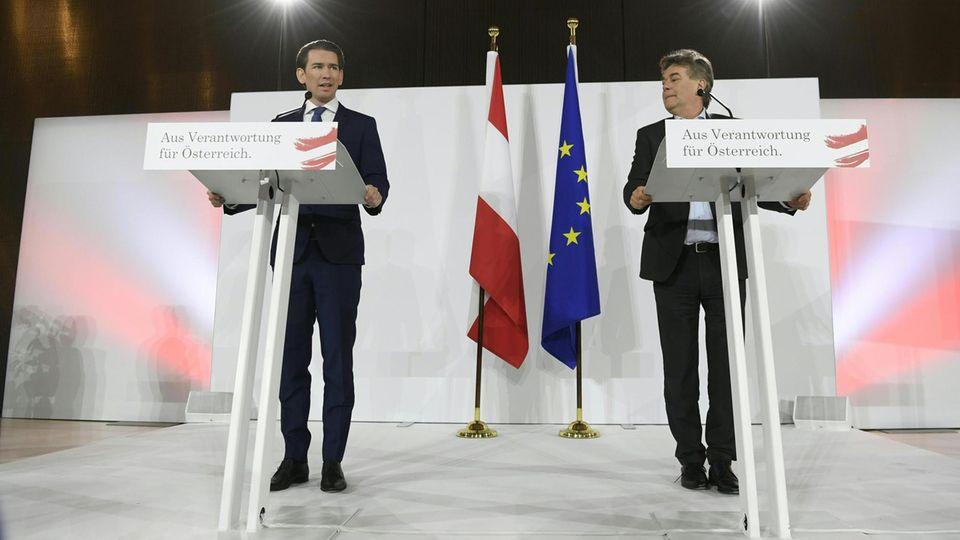 Sebastian Kurz (l.) und Werner Kogler